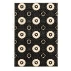 Prisma Karma Black and White 5 ft. 3 in. x 7 ft. 6 in. Indoor Area Rug, Primary: Black/Secondary: White