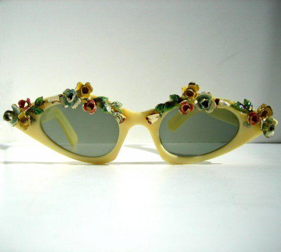 1960s floral sunglasses
