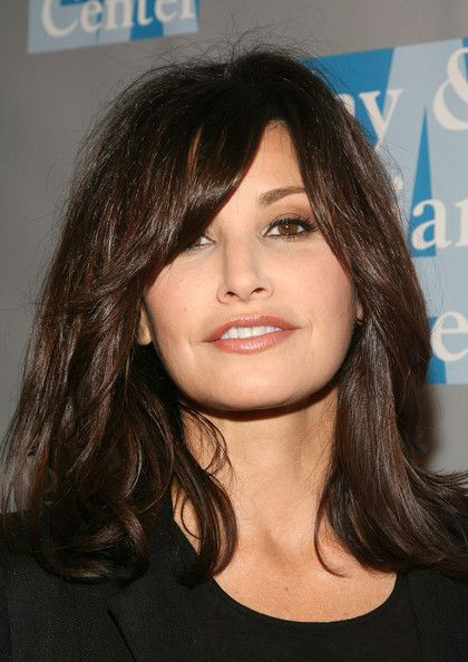 Gina Gershon Medium Layered Cut - Gina Gershon Shoulder Length Hairstyles - StyleBistro