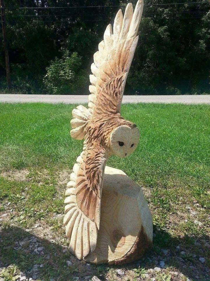 Beautiful owl carving