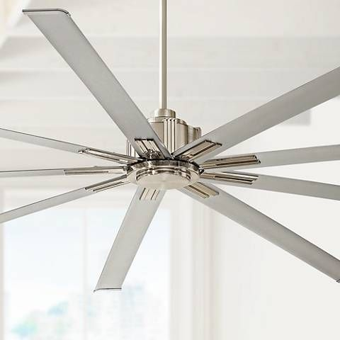 "72"" Minka Aire Xtreme Brushed Nickel Ceiling Fan"