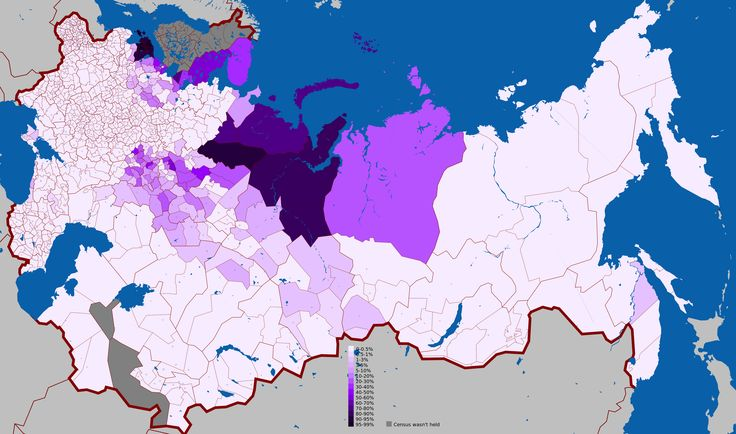 Geographic distribution of Uralic languages in the Russian Empire according to 1897 census