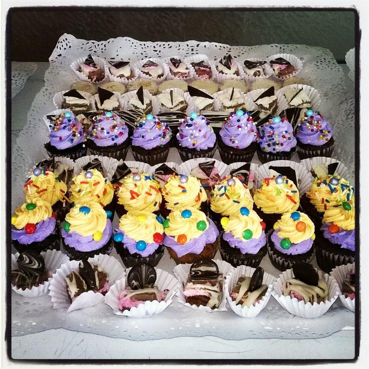 Mini cupcake y mini tortitas