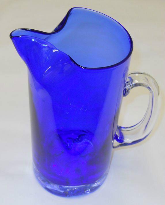 Tapio Wirkkala Vintage Cobolt Blue Gaissa Jug Ice Lip Pitcher Iittala Finland