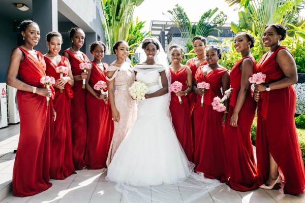 Aisle Perfect Wedding at the Dorchester Events Center in Lagos, Nigeria #wedding #bridesmaid #bride