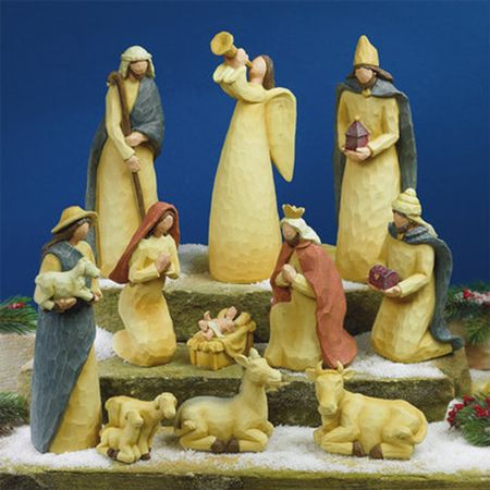 Classic Nativity Soft Hues 11 Pieces