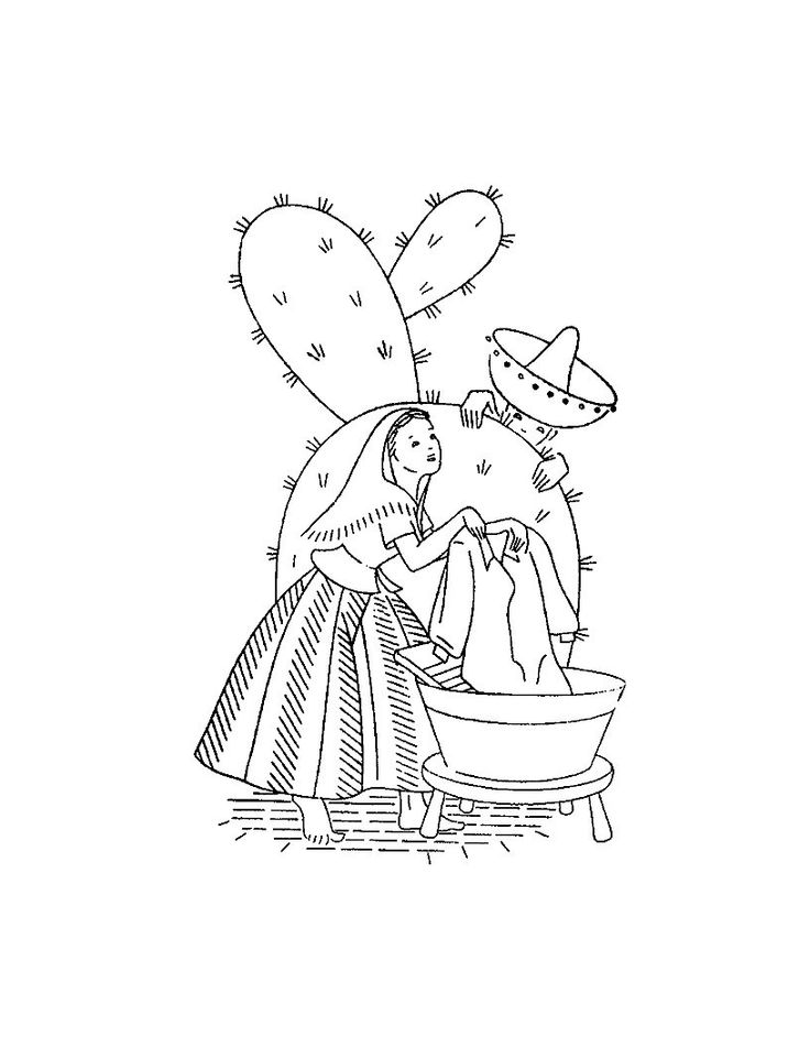 Vtg Embroidery 6353 Spanish Couple & Cactus for Kitchen dish Towels  in PDF format Instant Download by BlondiesSpot on Etsy