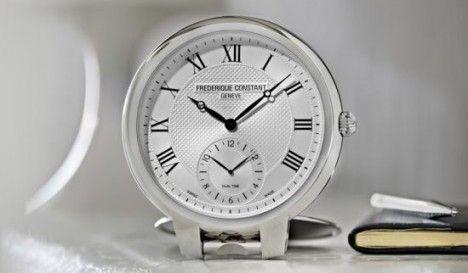 frederique constant table clock