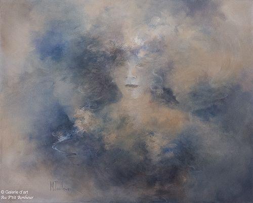 Madeleine Tailleur, 'Chapeau et fleurs', 24'' x 30''   Galerie d'art - Au P'tit Bonheur - Art Gallery