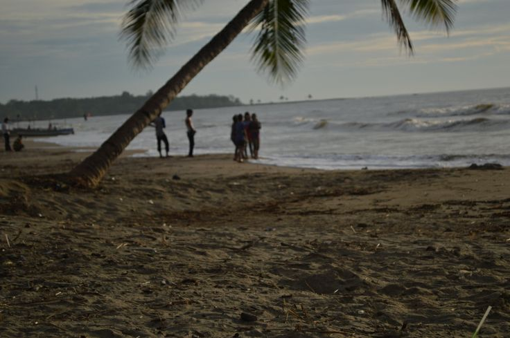 sunset in anyer beach