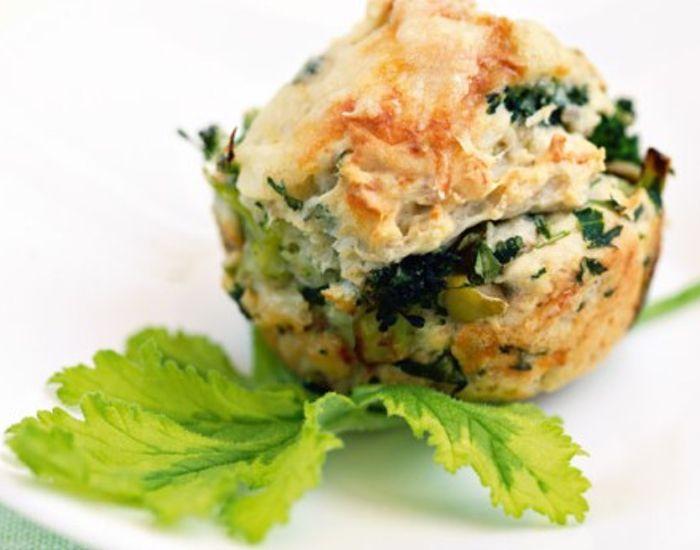 Madmuffins med ost, broccoli og rucola - Måltid