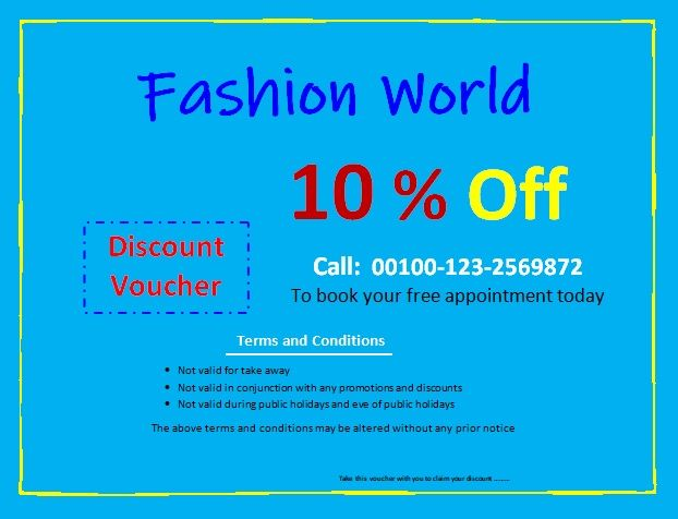 Discount Voucher Templates 15 Free Printable Word Excel Pdf Samples Discount Vouchers Voucher Words