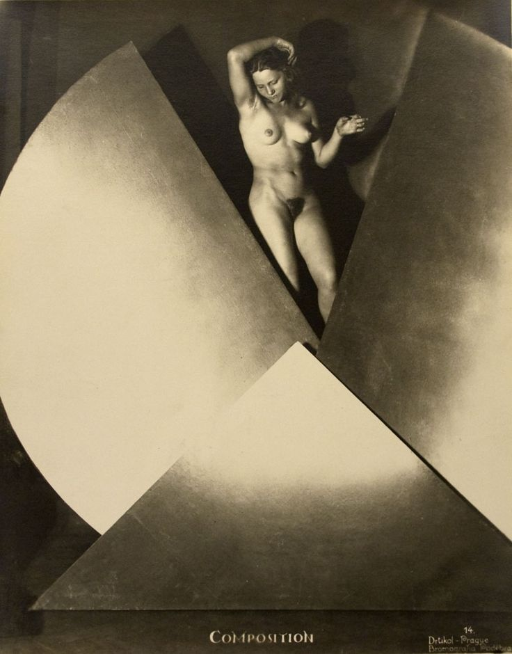 Frantisek Drtikol incorporated modernist ideas about geometric form, light and space into female nude studies.