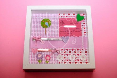 Τα ομορφότερα αναμνηστικά του μωρού σας σε ένα καδράκι από το Χειρός Λύσεις! Από μαμάδες για μαμάδες!