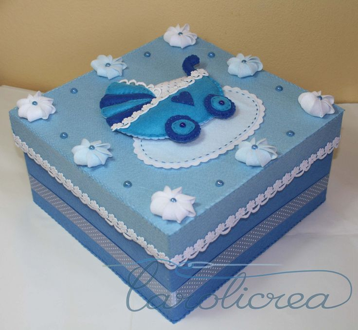 scatola nascita carrozzina (carolicrea) Tags: bebè scatoledecorate