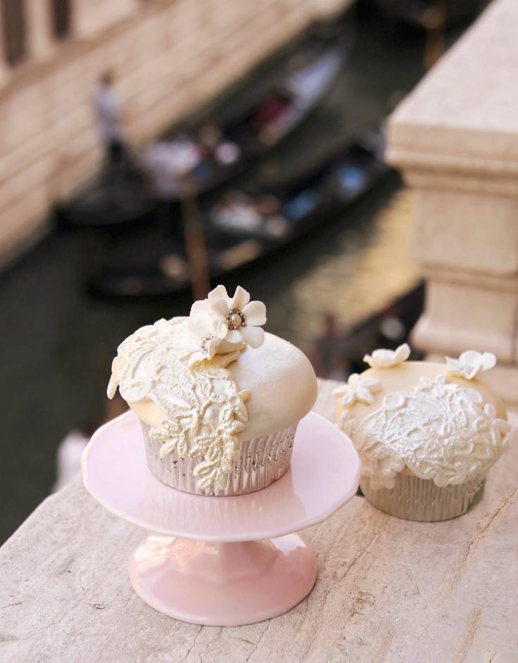 Cupcakes de encaje