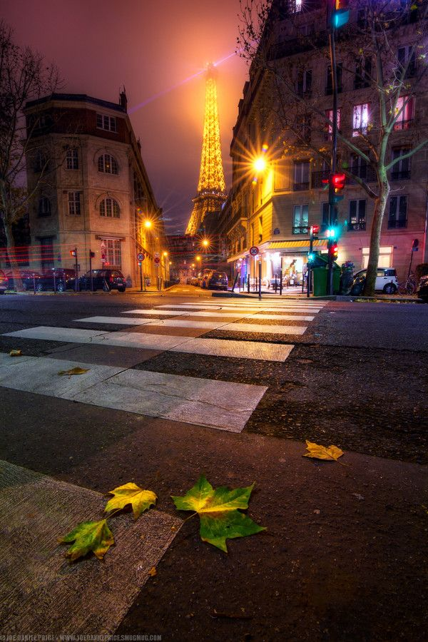 Crossing to The Eiffel Tower, Paris, France