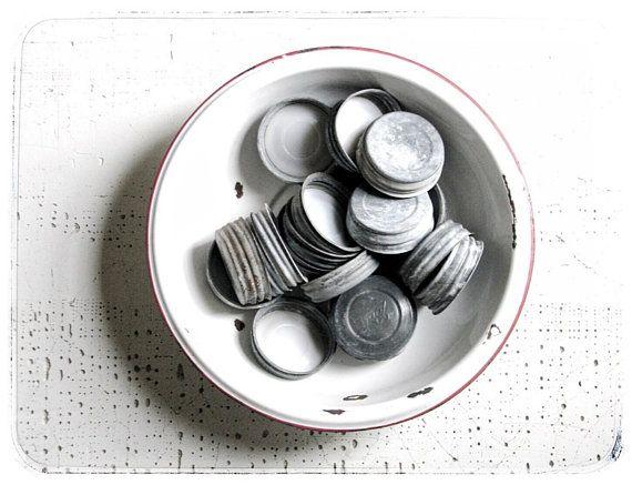 enamel bowl  urban farmhouse  kitchenwares  by refugeca2015