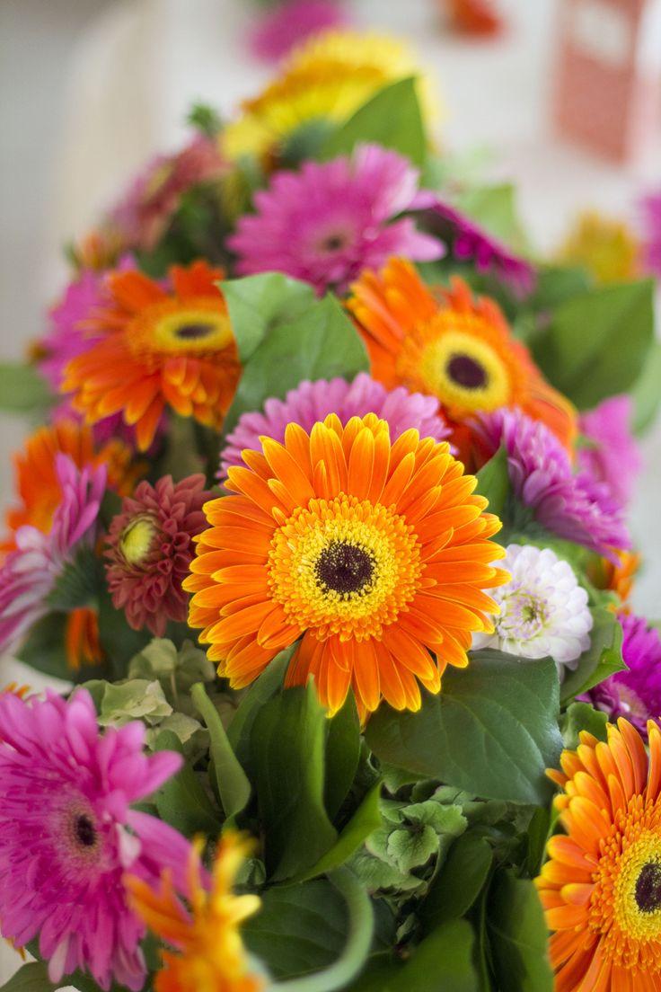 Pink and Orange Gerbera Wedding Decor