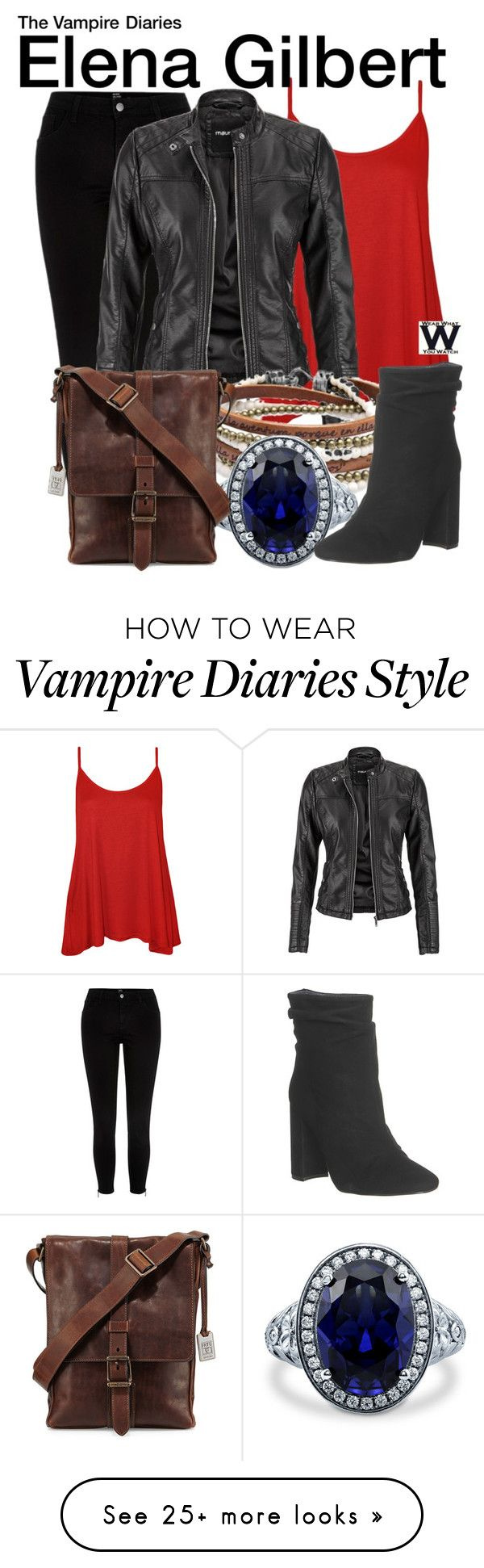 """""""The Vampire Diaries"""" by wearwhatyouwatch on Polyvore featuring River Island, WearAll, maurices, Platadepalo, BERRICLE, Office, Frye, television and wearwhatyouwatch"""