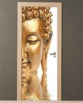 Adesivo per porte Buddha Zen