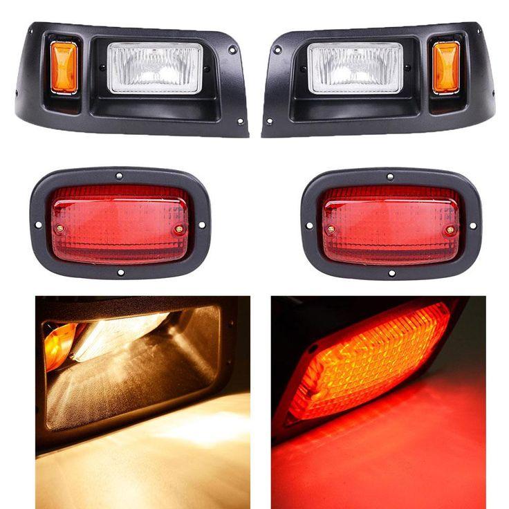 DIY Golf Cart Halogen Headlight+LED Taillight Set fits Club Car DS