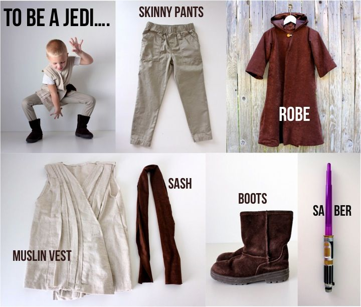 Super useful tute on how to create your own jedi - just add Will! Oh and loving the noodle lightsabres, so doing that! Halloween 2012, version 1: channeling The Force | MADE