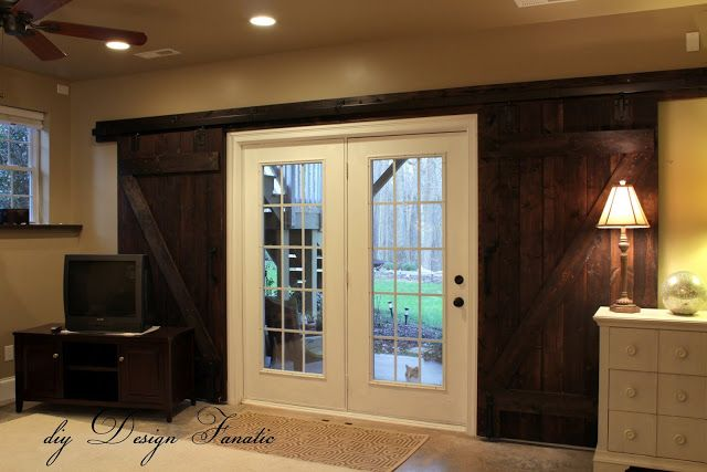 7 best images about family room on pinterest shelves for Basement double door