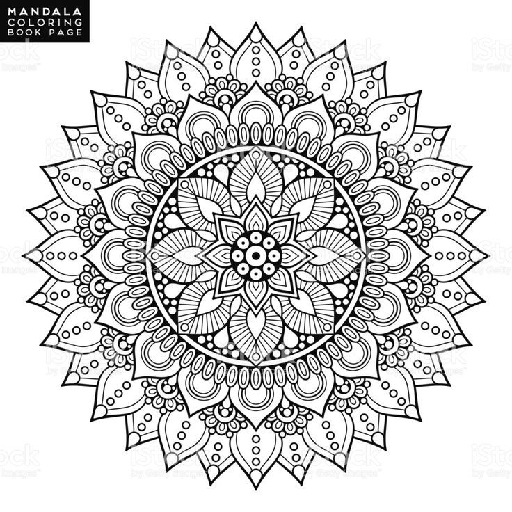Blumen Mandala Vintage Dekorative Elemente Orientalisches Muster Vektor Sketchy Blu Mandala Tatowierung Orientalische Muster Ausmalbilder Mandala