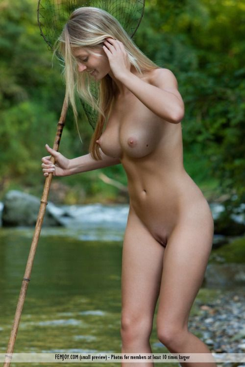Girls fishing naked
