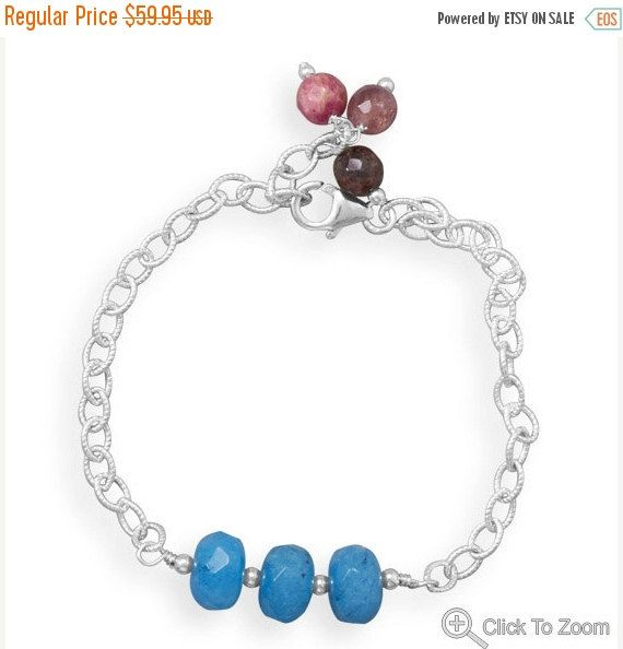 NOW ON SALE Chain and Bead Bracelet Twist Link by jewelrymandave