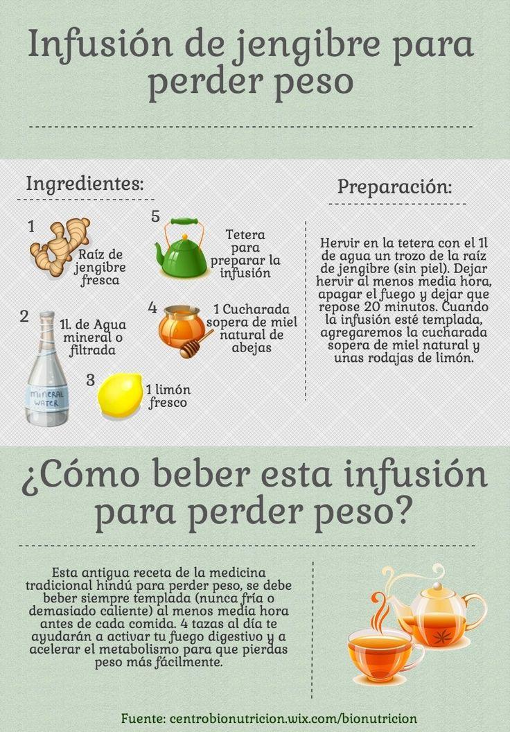 Infusión de jengibre para perder peso