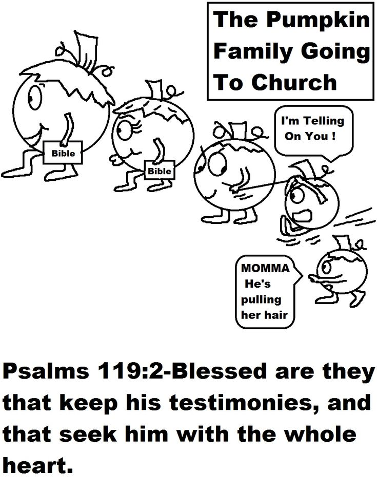 Pumpkin Family Going To Church Coloring Page 1019x1319