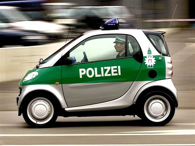 Police Smart car, Hamburg, Germany
