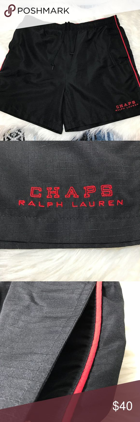 Vintage CHAPS Ralph Lauren Polo Black Swim Shorts -Waist  -Rise  -Length  -Inseam  -add your items to a bundle so I can make you a discount offer!  -some items prices are firm unless bundled  -no holds  -no trades  -same day or next day shipping Ralph Lauren Swim Board Shorts