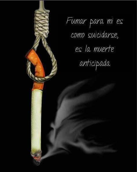 Fumar es como suicidarse