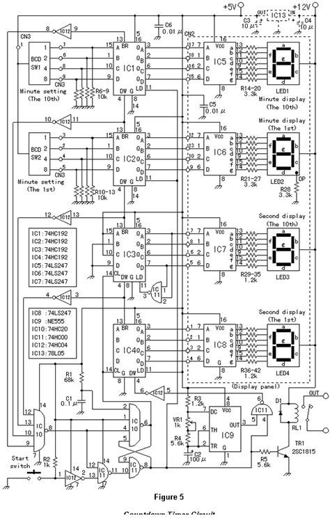 count down timer circuit