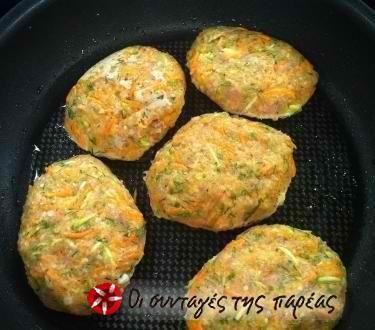 Μπιφτέκι κοτόπουλο με λαχανικά