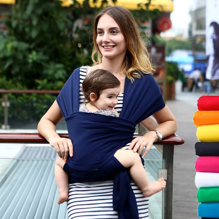 Adjustable Baby Water Ring Sling Baby Carrier Infant Wrap with Aluminum Ring Best Baby Gift One Size