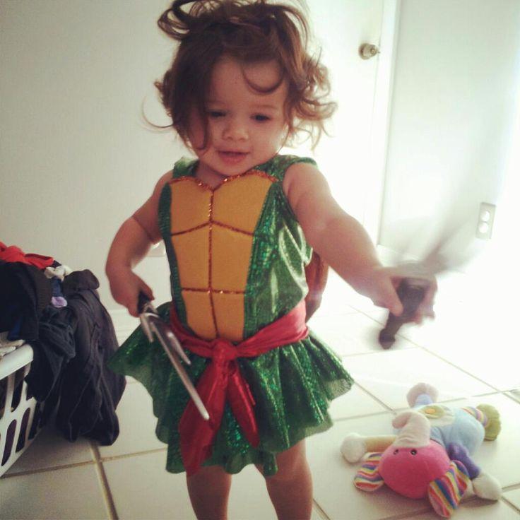 Girl's Ninja Turtle Costume