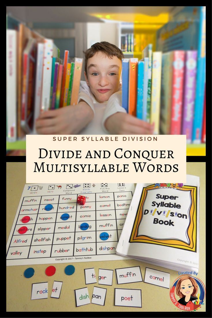 This is a ready reference and set of fun games for using syllable division rules to decode multisyllable words.  Students create their own books including tips and tricks to divide and read syllables    Great for Orton-Gillingham based reading program and is perfect for students with dyslexia.   Get a FREE coordinating bookmark at Tammy's Toolbox.
