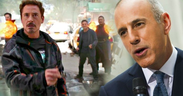 Was Matt Lauer Announcement Timed to Overshadow Avengers Trailer Launch? -- NBC used the Today show to announce the firing of Matt Lauer just as Good Morning America launched the Avengers: Infinity War Trailer. -- http://movieweb.com/matt-lauer-firing-avengers-infinity-war-announcement-timing/