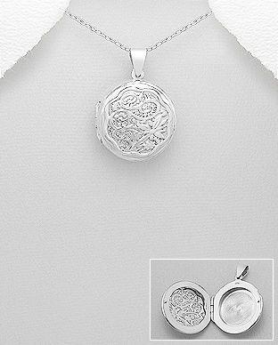 Medalion rotund care se deschide din argint 17-1-i4994 | SilverZone.ro
