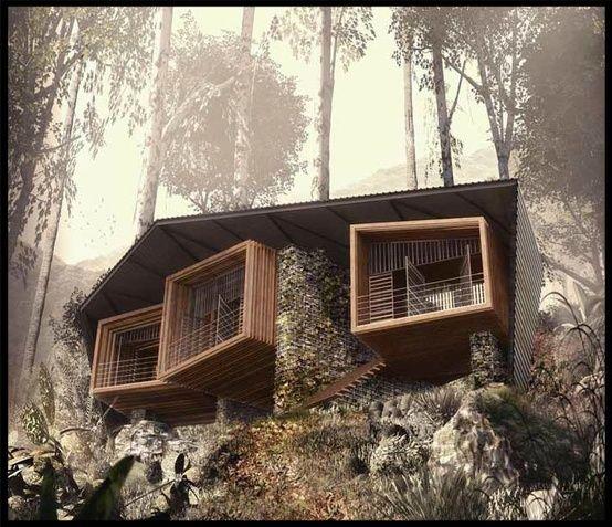 Bukit Lawag Lodge, Sumatra, Indonesia - FOSTER LOMAS ARCHITECTS - photo via design-dautore.com fb page