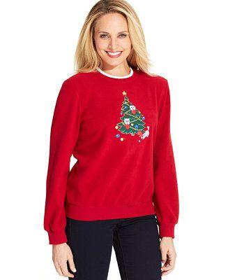 Look Cat-tastic in this Alfred Dunner Kitten Hoilday Fleece Sweatshirt on sale for GBP 28.69 #UglySweater #Swagbucks #CandyCaneGang Carnival90 @swagbucks