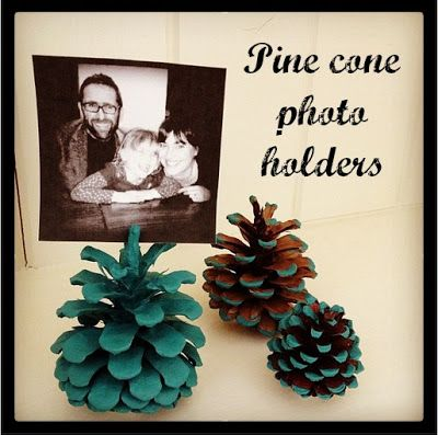 Pine Cone Crafts - Photo Holders