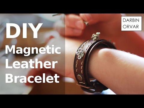 DIY Leather Bracelet w/ Magnets - YouTube