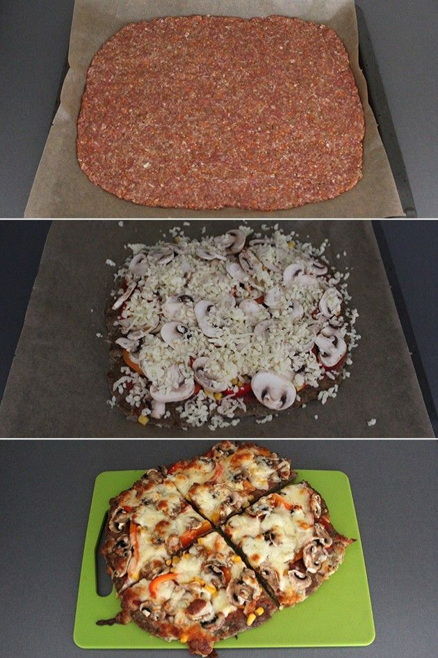 Fantastisk proteinpakket alternativ til almindelig pizza, hvor dejbunden er erstattet af en fabelagtig kødbund. Brug lige præcis din yndlingstopping på meatzaen.