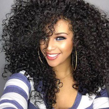 SHARE & Get it FREE | Women's Impressive Medium Side Bang Black Afro Curly Synthetic Hair WigFor Fashion Lovers only:80,000+ Items • New Arrivals Daily • FREE SHIPPING Affordable Casual to Chic for Every Occasion Join Dresslily: Get YOUR $50 NOW!