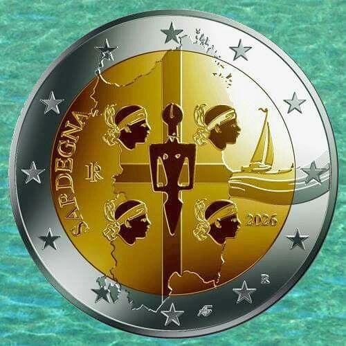 L'euro dei 4 mori . Sardo al 100 %